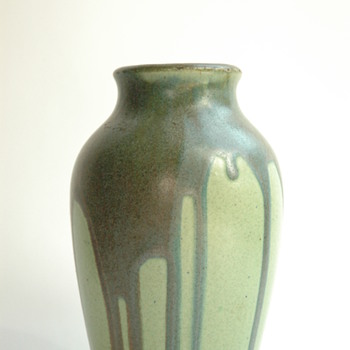 nice french art nouveau stonware vase by LEON POINTU