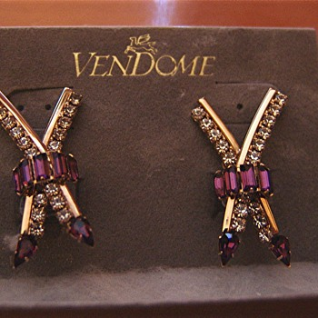 My inherited Vendome earrings - or are they?
