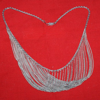 Multi Strand Sterling Vintage Necklace