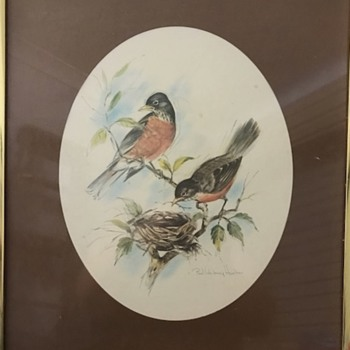 Two paintings of birds by Paul Whitney Hunter - Visual Art