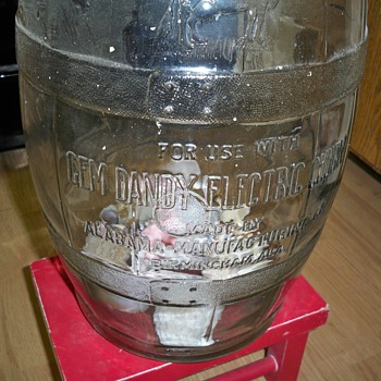 Gem Dandy Electric Churn glass churning jar - Kitchen