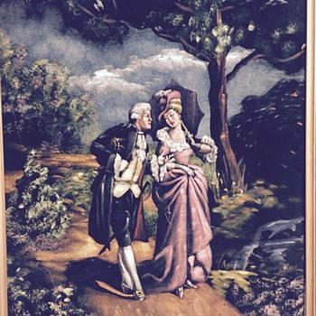 Old painting on velvet - Visual Art