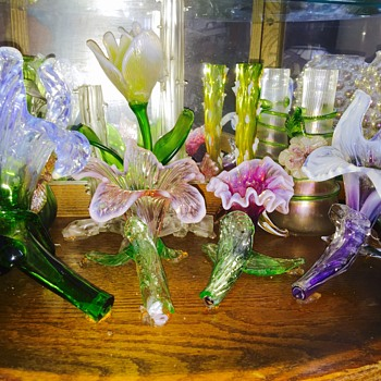 New Kralik Floriform Sanctuary of Vases  - Art Glass