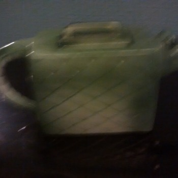A Collecter Teapot in the Shape of a Crocodile / Alligator handbag removable lid - Art Pottery