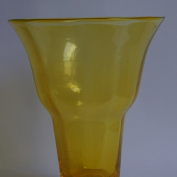Webb Uranium Yellow Vase - Art Glass
