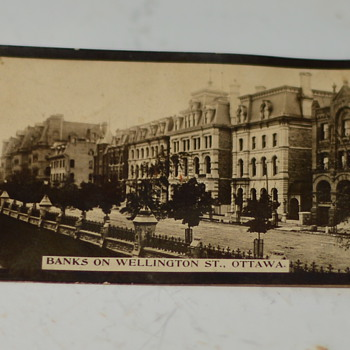 1910 Photo, The Banks on Wellington st., Ottawa - Photographs
