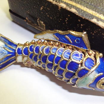 Chinese so called cloisonne fish pendant