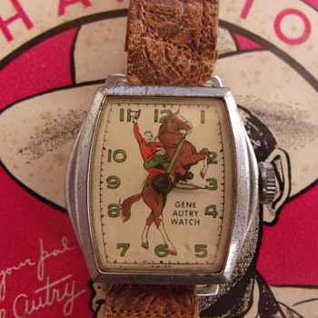 @ Celeine.....Cousin Gene Autry....first issue wristwatch Wilane 1948