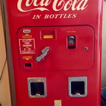 Vendolator 72 from 1950's. It hold 72 bottles with double drop chute  - Coca-Cola