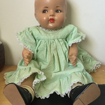 Vintage Effenbee Goggly Eyed Doll?