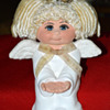 Ceramic Angel Doll signed Sarah Vintage