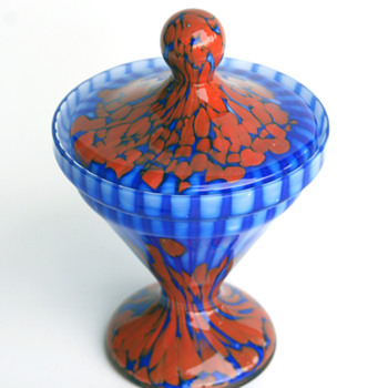 Welz Spots and Stripes Candy dish... - Art Glass