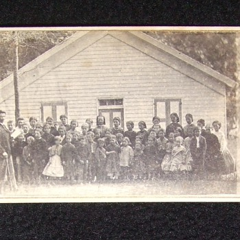 CDV of Civil War era one- room school house