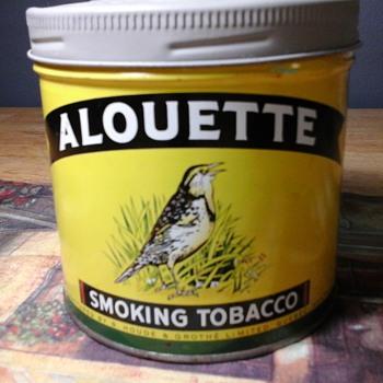 Alouette tin - Tobacciana