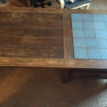 Oak Tile Top Coffee Table  - Furniture