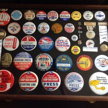 Chevrolet Pinback Collection - Medals Pins and Badges