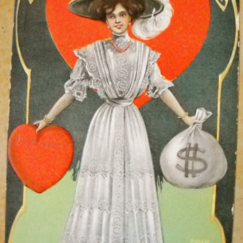 1908 Leap Year Postcard - Cards