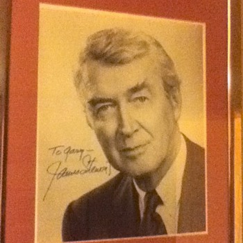 Jimmy Stewart Signed Picture