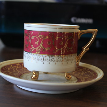 Antique Red & Gold cup - China and Dinnerware