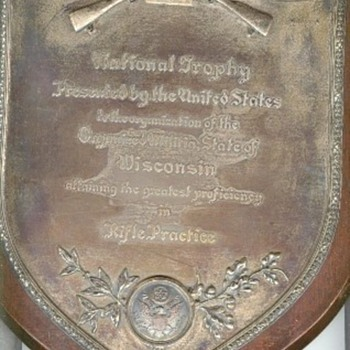 National  Trophy Plaque - Military and Wartime