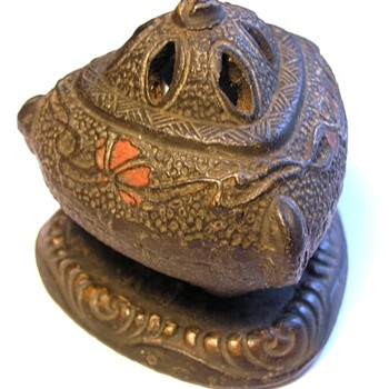 Incense Burner made in Japan - looks iron but is ceramic.