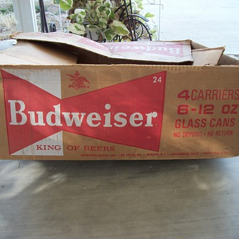 Budweiser box - Breweriana