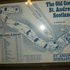 Old St. Andrews Scotland map printed on Cloth