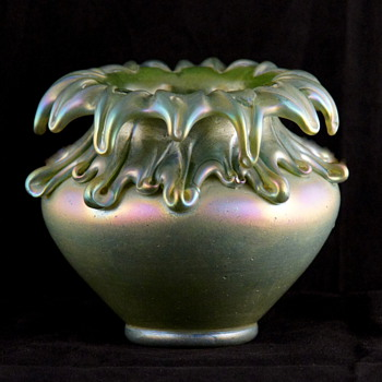 A Rare Kralik Vulcan Vase - Too Unusual and Rare to Not Share Here - Art Glass