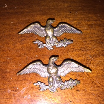 Unidentified Bronze Eagle Pin with Lightning Arrows & Olive Branches