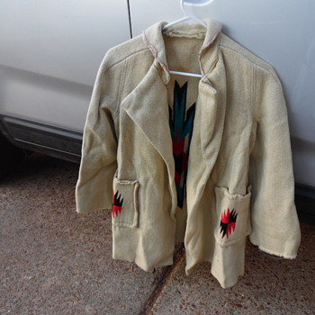 Antique Native  American Hand Woven Coat? Sweather? - Mens Clothing