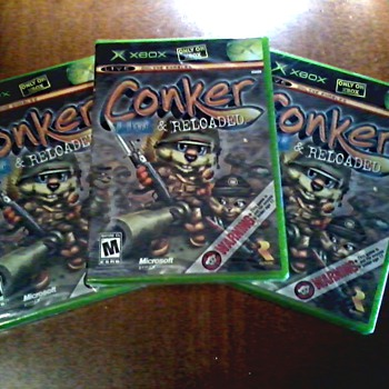 Conker Live and Reloaded for Original X Box /  3 Factory Sealed Copies / Circa 2005
