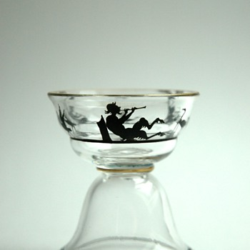 small secessionist glass  probably WIENER WERKSTATTE / HOFFMANN design - Art Deco
