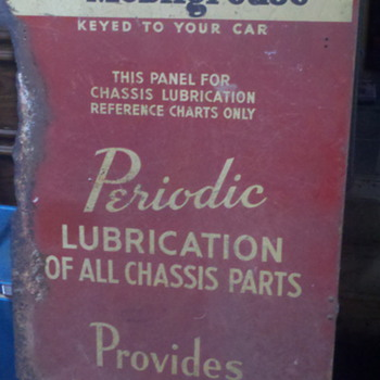 Mobil Lubrication/ Mobil Oil signs