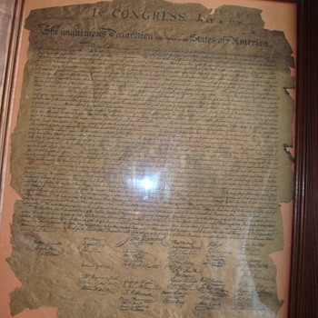 The unanimous Decleration of the thirteen united states of  america document