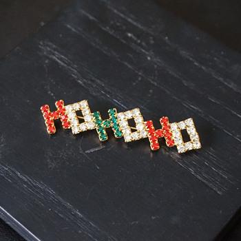 Rhinestone HOHOHO Pin
