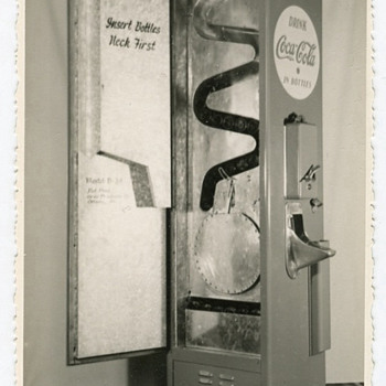 Early Coke machine photo!