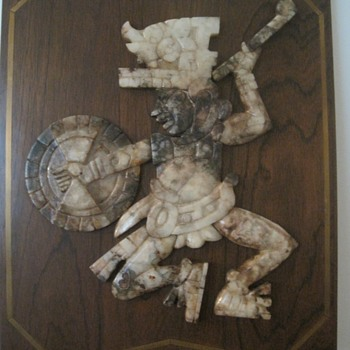 South American (Mexican) Carved Onyx Warrior - Visual Art