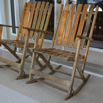 Antique Folding Rocking Chairs - Furniture