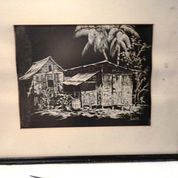 Island Hut Drawing - Visual Art