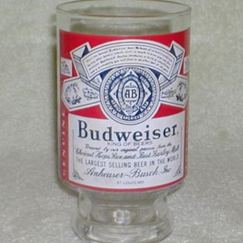 Budweiser Beer Glass - Breweriana