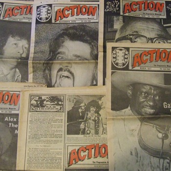 Vintage 1970's Action-The Progressive Magazines from San Antonio - Paper