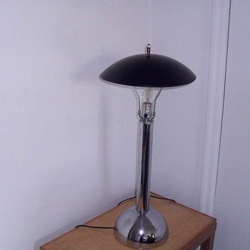 1960  chrome Lamp. - Lamps