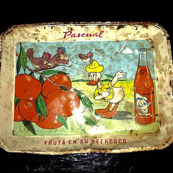 Pascual - Fruta en su Refresco!  Tiny Serving Tray - Advertising