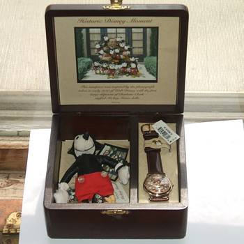 Charlotte Clark Mickey watch and Doll