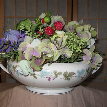 my  vegetable bowl goodwill find   no lid but still great - China and Dinnerware