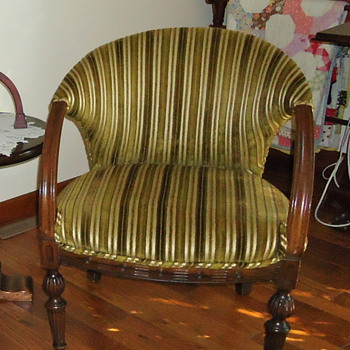Antique Loveseat and Chair - Furniture