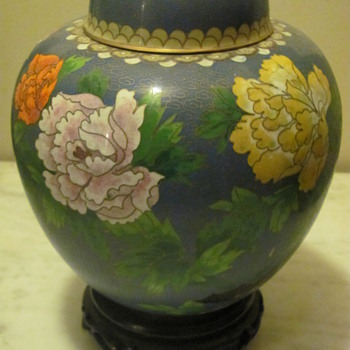 asian jar (from yard sale) - Asian