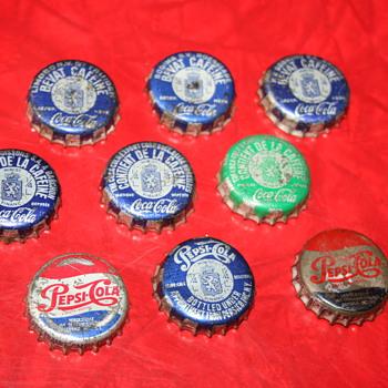 coca cola & pepsi cola caps