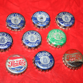 coca cola & pepsi cola caps - Coca-Cola
