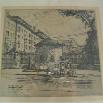 8 YALE etchings signed HML